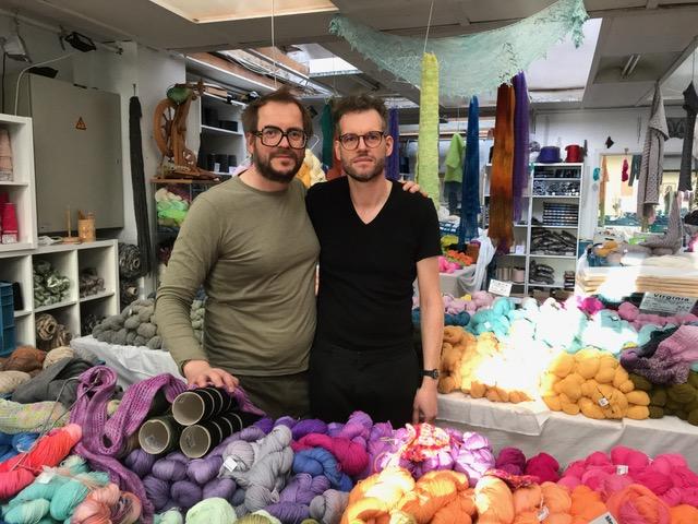 Francis Busschaert (links) en Bart T'Joens (rechts) van Bart & Francis in Kortrijk.