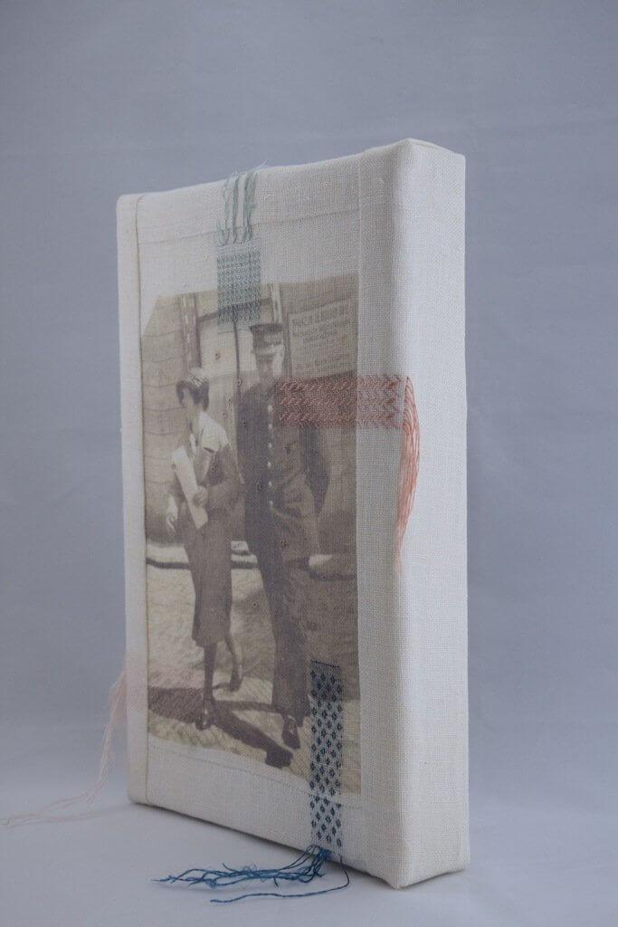 """Renee Toonen, """"Gaatjes in de familiegeschiedenis stoppen"""", jurywinnaar Textiel Plus Arts & Crafts Wedstrijd 2018."""
