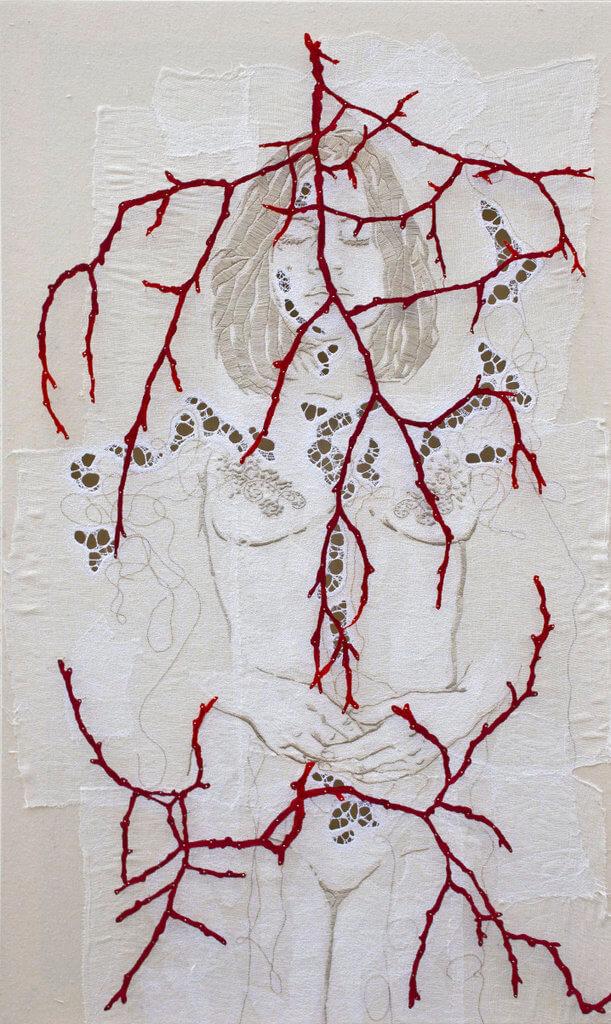 """Ilaria Margutti, """"Fioritura estrema IV"""", 110 x 80 cm."""