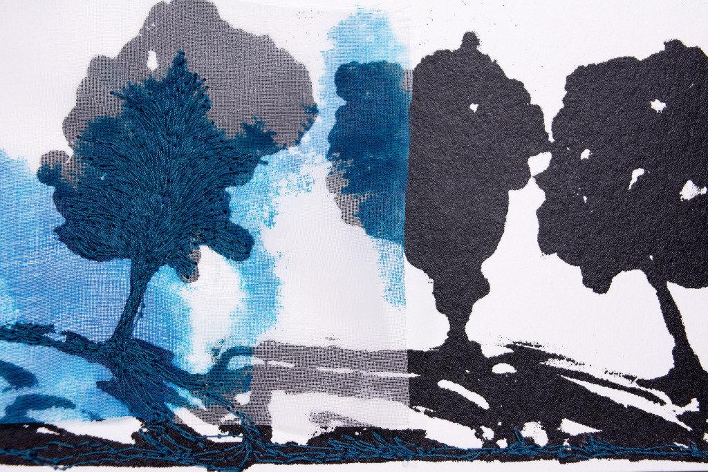 """Mónica Leitão Mota, """"Blue tree""""."""
