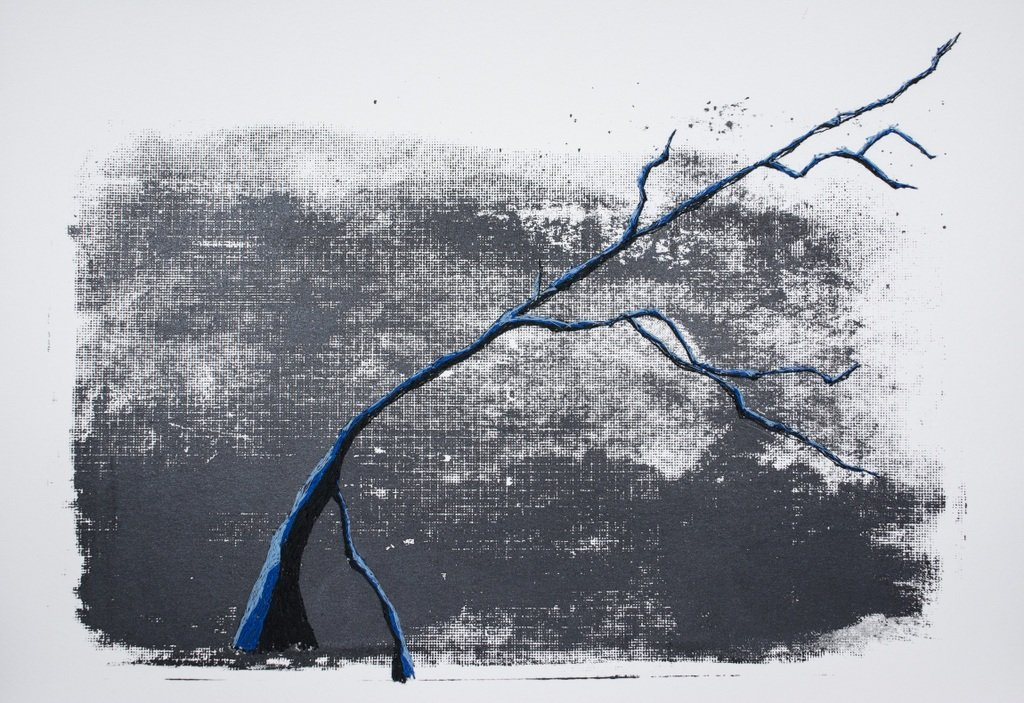 "Mónica Leitão Mota , ""Mountains with tree""."