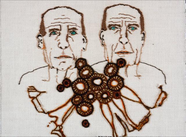 """Lia de Jonghe, """"Twee mannen""""."""