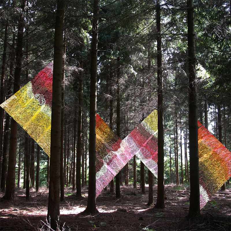 Edith Meusnier, Intervalles, 2011, Forêt d'Halatte