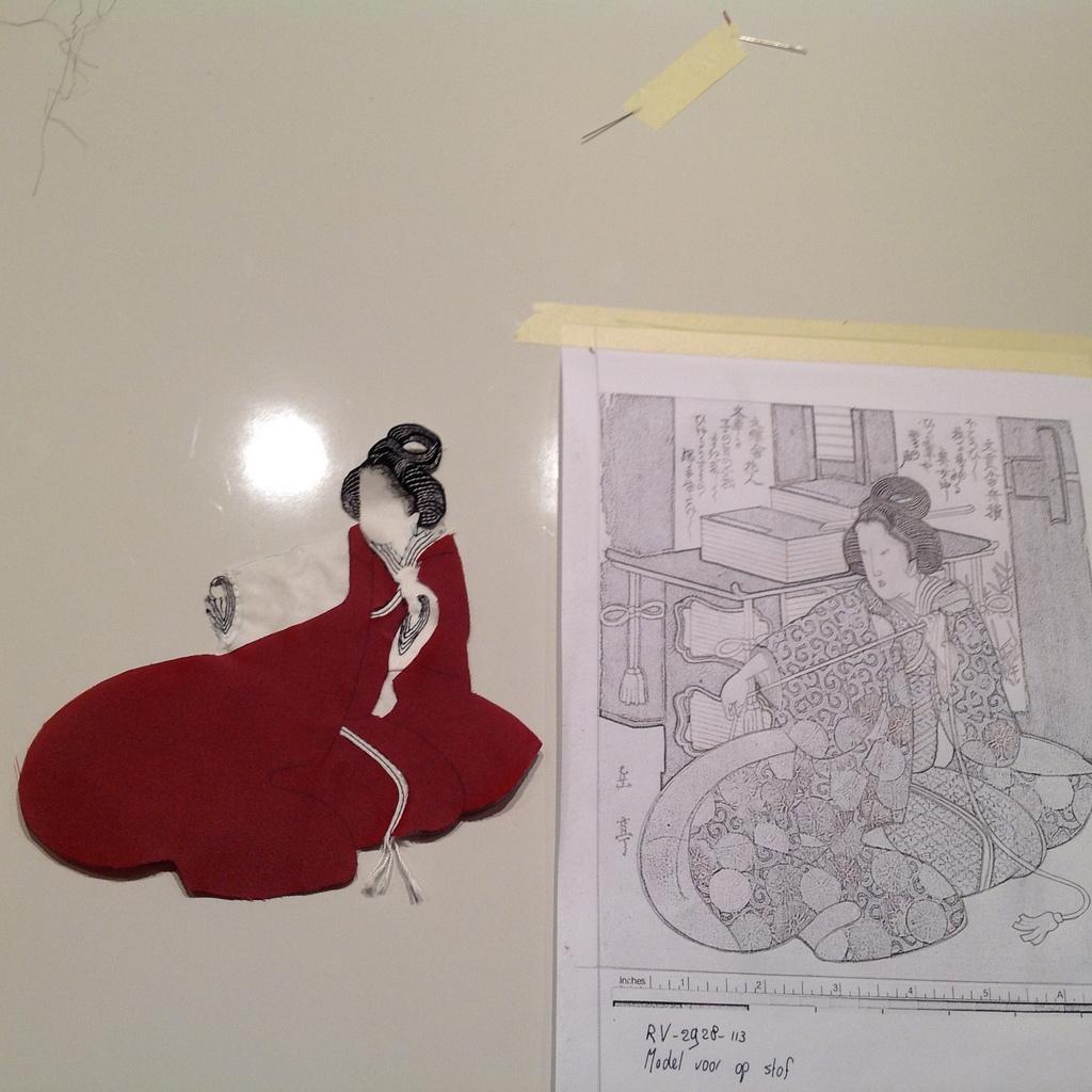 Stap 3: De tweede laag van de kimono (foto: Minke van de Zande).