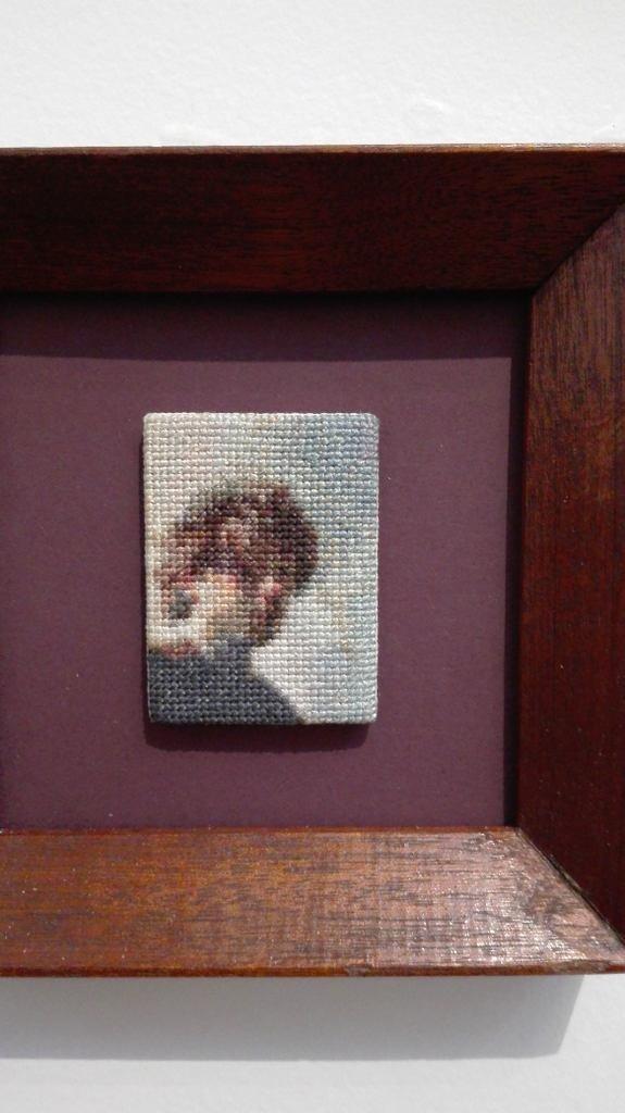 Geborduurd portret van Rembrandt (foto: Irma Frijlink).