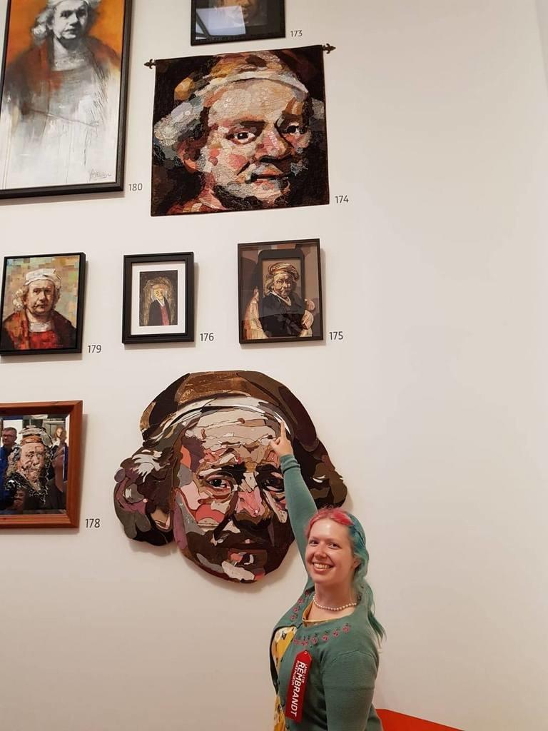Portret Rembrandt van Marjan van der Heijden (foto: Irma Frijlink).
