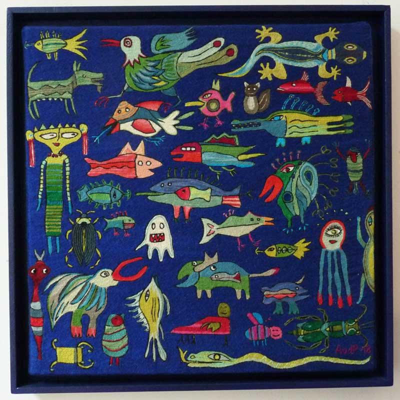Anne van de Pas, Fantasiewezens in blauw