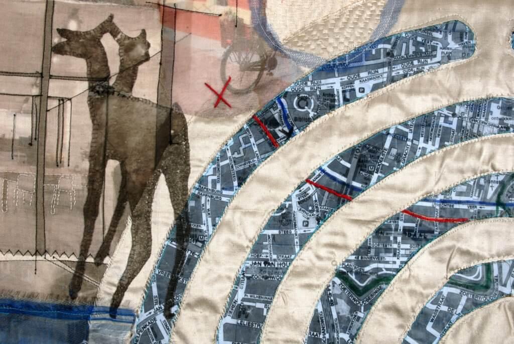 """Marga Lansink, """"Panta Rhei, Ouden Menei"""", detail, 2018 , 105 x 110 cm."""