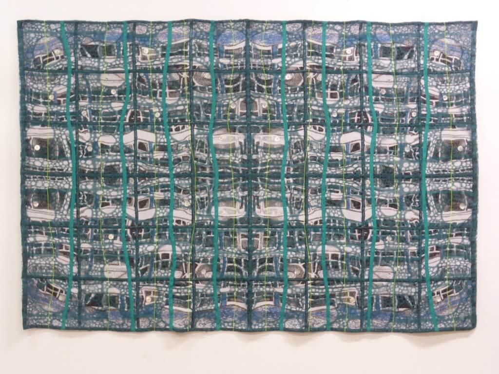 "Ilse Versluijs, ""Cityscape Tapestry 2"" (TexLab), 2019."