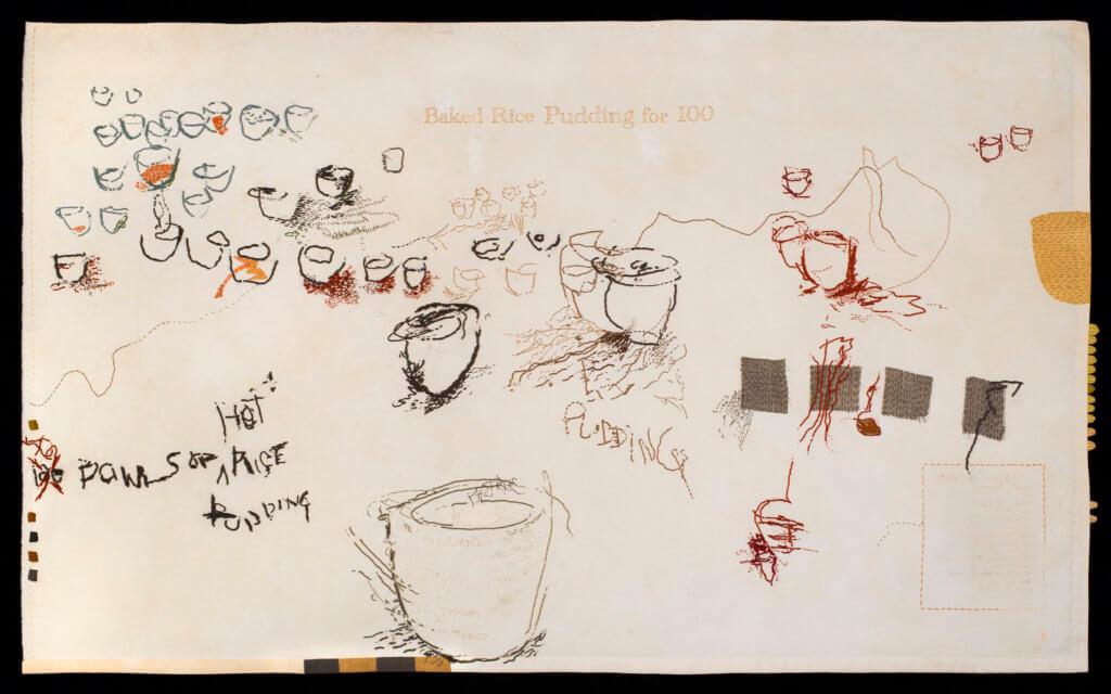 "Susan Moss, ""Rice Pudding for 100""."