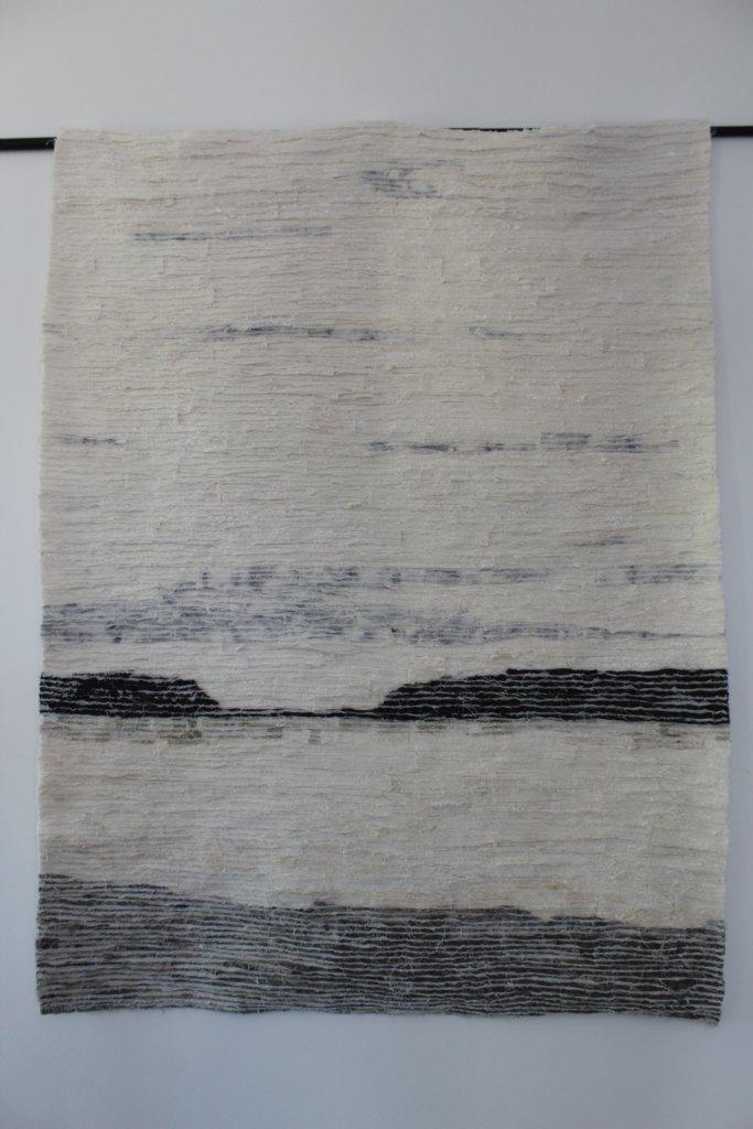 """Nancy Graumans, """"Wandkleed Stillness""""."""