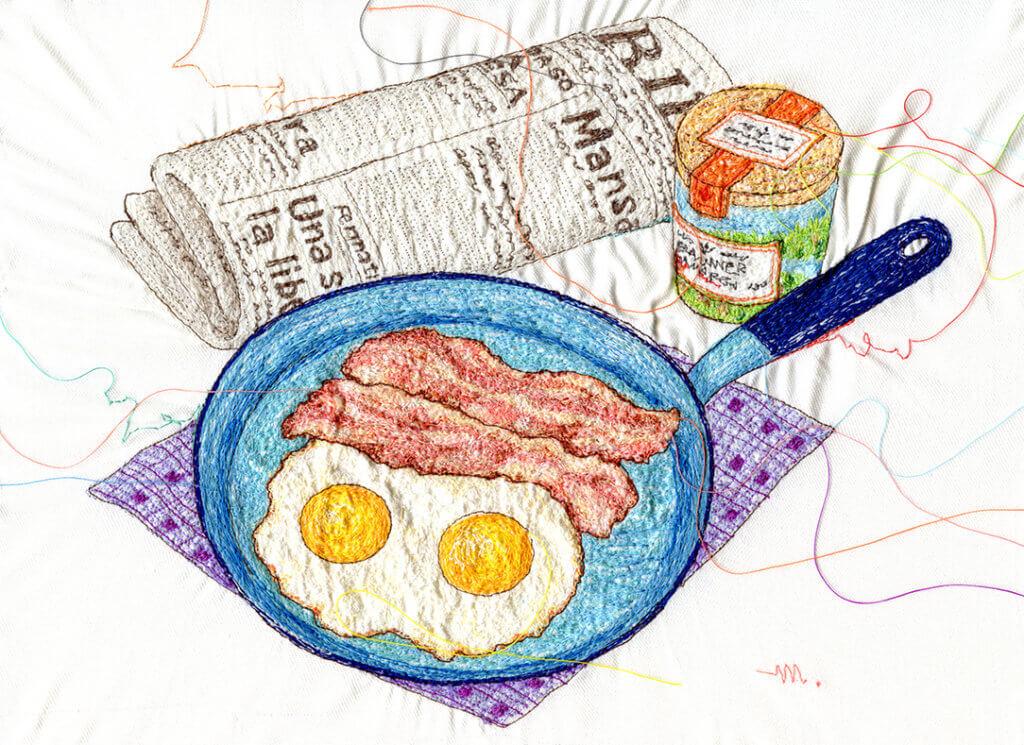 "Miyuki Sakai, ""Egg bacon""."