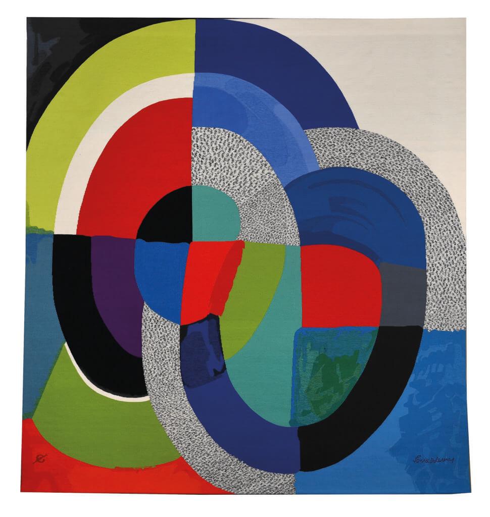 Sonia Delaunay (1885-1979), Panel 1954, 1999-2000 Manufacture des Gobelins 293 × 273 cm, wool Collection Mobilier national © Pracusa (foto: Isabelle Bideau).