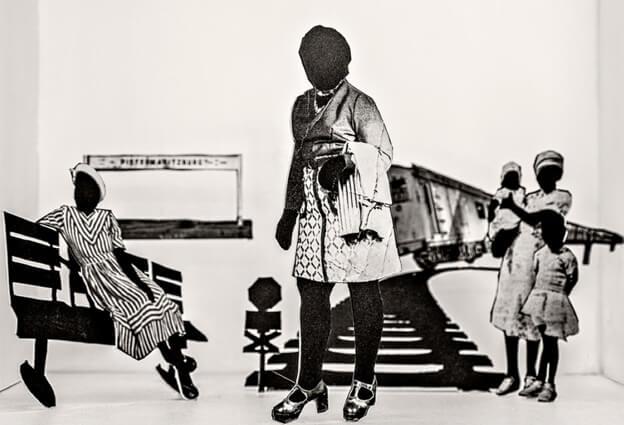 """Lebohang Kganye, """"Tell Tale"""". Film, foto en installatie. 2018."""