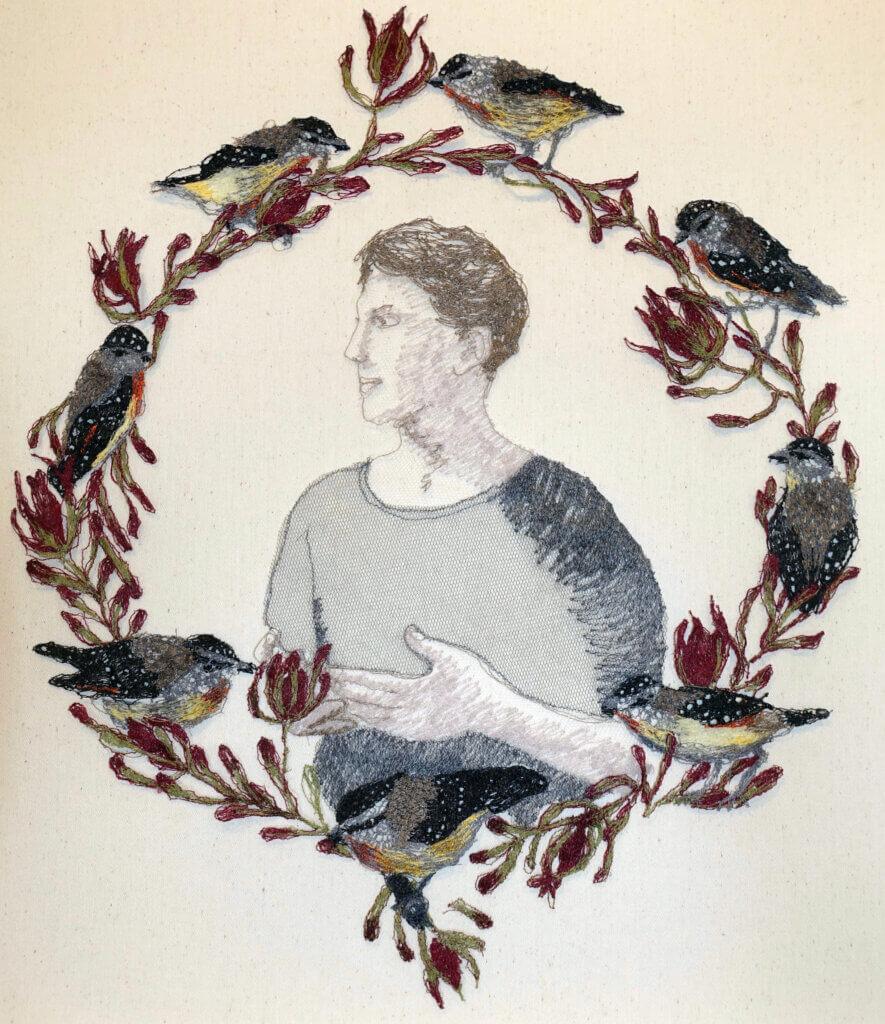 """Sharon Peoples, """"Pardolotte portrait""""."""