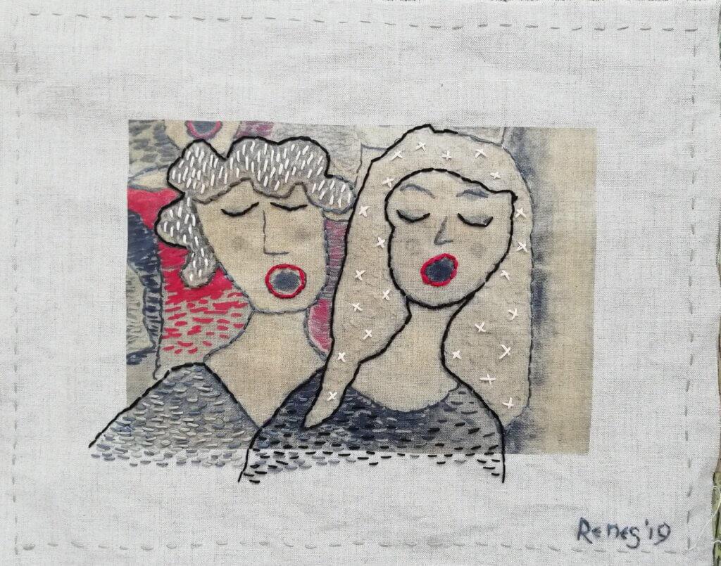 Mathilde Renes, 'Sopranos', 2019, 35 x 45 cm.